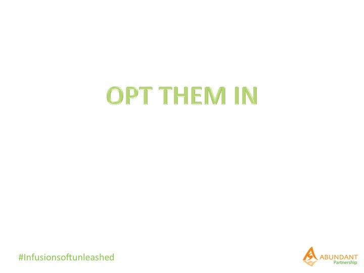 How to setup Infusionsoft Automation Links, Custom OptIn and Custom OptOut Links